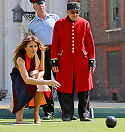 First Lady Melania Trump Plays Bowls