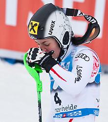 18.03.2011, Pista Silvano Beltrametti, Lenzerheide, SUI, FIS Ski Worldcup, Finale, Lenzerheide, Slalom Damen, im Bild Kathrin Zettel (AUT) enttäuscht im Zielraum auf der Lenzerheide. //  Kathrin Zettel (AUT) looks dejected  during Women´s Slalom, at Pista Silvano Beltrametti, in Lenzerheide, Switzerland, 18/03/2011, EXPA Pictures © 2011, PhotoCredit: EXPA/ J. Feichter