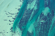 Shark Bay World Heritage Area from above revealed vast swathes<br />