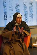 January 10, 2012, Damascus, Syria. Sister Agnes in a hotel during a meeting with a groupe of western journalists.<br /> <br /> 10 janvier 2012, Damascus, Syrie. La soeur Agnes pendant une réunion dans un hotel avec un  groupe de journalistes étrangers en Syrie.