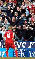 Photo: Ed Godden/Sportsbeat Images.<br />Reading v Liverpool. The Barclays Premiership. 07/04/2007. Liverpool's Dirk Kuyt celebrates after scoring the winning goal.