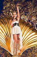 """Australian pop singer Kylie Minogue performs on stage during her """"Aphrodite - Les Folies""""-Tour at Hallenstadion in Zurich, Switzerland, Wednesday, March 9, 2011. (Photo by Patrick B. Kraemer / MAGICPBK)"""