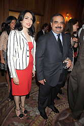 RENU MEHTA and HH SHEIKH SALMAN BIN KHALIFA AL KHALIFA at a dinner hosted by the Fortune Forum at The Dorchester, Park Lane, London W1 on 2nd July 2008.<br /><br />NON EXCLUSIVE - WORLD RIGHTS