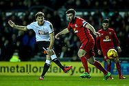 Chris Martin of Derby County (left)  shoots during the Sky Bet Championship match at the iPro Stadium, Derby<br /> Picture by Andy Kearns/Focus Images Ltd 0781 864 4264<br /> 24/02/2016