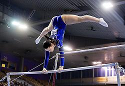 Carmen Horvat of Slovenia competes during Qualifications day of Artistic Gymnastics World Cup Ljubljana, on April 26, 2013, in Hala Tivoli, Ljubljana, Slovenia. (Photo By Vid Ponikvar / Sportida.com)