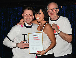 Ray Quinn being presented with a certificate and t-shirt as he becomes a Celebrity Ambassador for Variety, the Children's Charity at The Jazz Club, Camden Town, London on Tuesday 17 March 2015