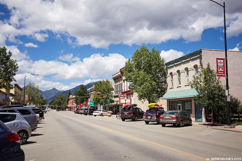 Summer on Main Street in Buena Vista, Colorado.