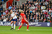 Toni Duggan (11) of England shoots at goal during the FIFA Women's World Cup UEFA Qualifier match between England Ladies and Wales Women at the St Mary's Stadium, Southampton, England on 6 April 2018. Picture by Graham Hunt.