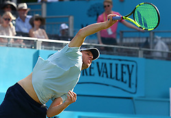 June 18, 2018 - London, England, United Kingdom - during Fever-Tree Championships 1st Round match between Sam Querrey (USA) against Jay Clarke (GBR) at The Queen's Club, London, on 18 June 2018  (Credit Image: © Kieran Galvin/NurPhoto via ZUMA Press)