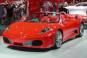 Red Ferrari at Melbourne International Motor Show <br />