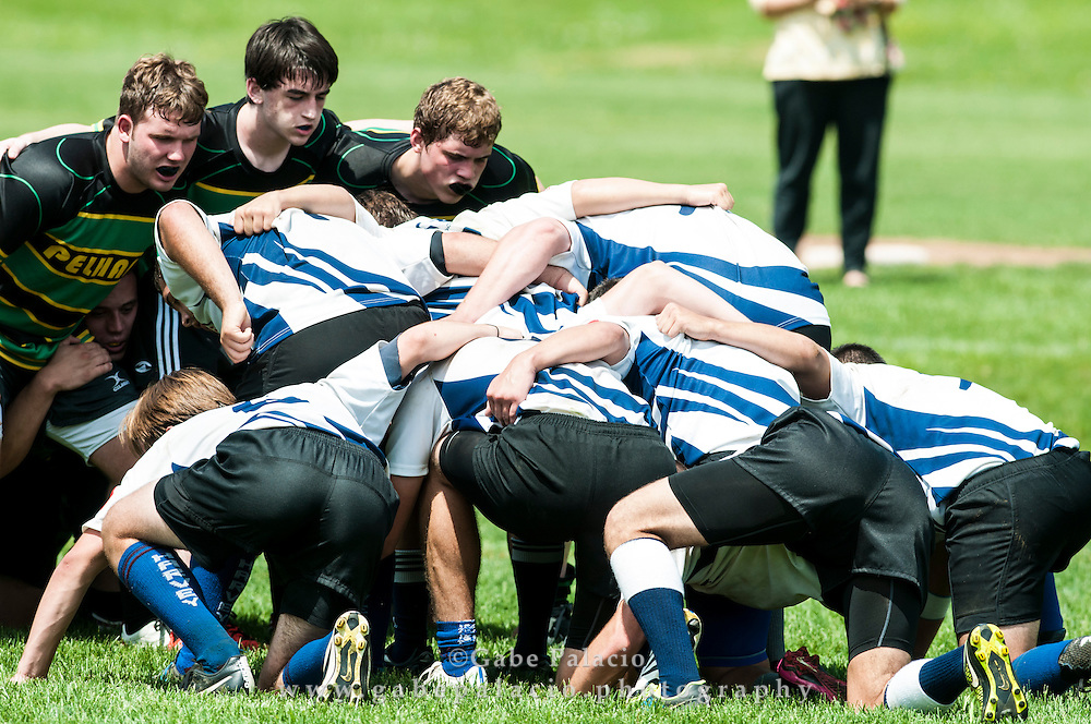 Boys Varsity Rugby at  the Harvey School on May 17, 2015. (photo by Gabe Palacio)