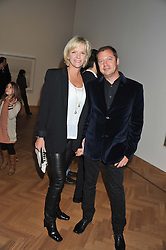 MATTHEW & ELISABETH FREUD at a party to celebrate the launch of the new gallery Pace at 6 Burlington Gardens, London on 3rd October 2012.