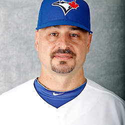 March 2, 2012; Dunedin, FL, USA; Toronto Blue Jays bullpen catcher Alex Andreopoulos (61) poses for a portrait during photo day at Florida Auto Exchange Stadium.  Mandatory Credit: Derick E. Hingle-US PRESSWIRE