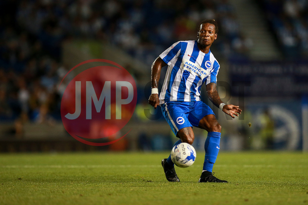 Gaetan Bong of Brighton & Hove Albion - Mandatory by-line: Jason Brown/JMP - 13/09/2016 - FOOTBALL - Amex Stadium - Brighton, England - Brighton & Hove Albion v Huddersfield Town - Sky Bet Championship