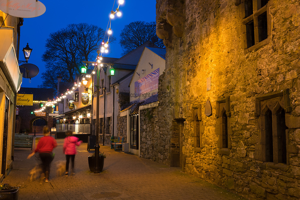 The laneway looking down Tholsel Street, Carlingford, Ireland