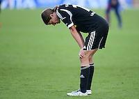 FRAUEN  FUSSBALL   CHAMPIONS LEAGUE  FINALE   2011/2012      Olympique Lyon - 1. FFC Frankfurt          17.05.2012 Enttaeuschung nach der Niederlage, Kerstin Garefrekes (1. FFC Frankfurt)
