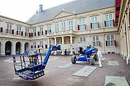 DEN HAAG - Voorbereidingen bij paleis nooreinde voor prinsjesdag volgende week dinsdag copyrighr robin utrecht