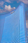 Vdara Hotel and Spa, Vertical, Blue Sky, Las Vegas, USA,