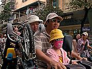 Vietnam, Hanoi: traffic jam.