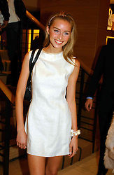 MISS NOELLE RENO at a party hosted by Burberry to launch their special collection in aid of Breakthrough Breast Cancer, held at 21-23 New Bond Street, London W1 on 5th October 2004.<br />