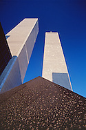 Cloud Fortress  by Masayuki Nagare , sculpture in World Trade Plaza, destroyed during the September 11 attacks, Austin Tobin Plaza, Twin Towers, NYC, NY