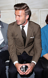David Beckham in the front row for the Victoria Beckham show New York Fashion Week for Spring/ Summer 2013 , Sunday 9th September 2012. Photo by: Stephen Lock / i-Images