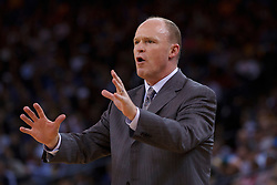 Mar 16, 2012; Oakland, CA, USA; Milwaukee Bucks head coach Scott Skiles on the sidelines against the Golden State Warriors during the fourth quarter at Oracle Arena. Milwaukee defeated Golden State 120-98. Mandatory Credit: Jason O. Watson-US PRESSWIRE