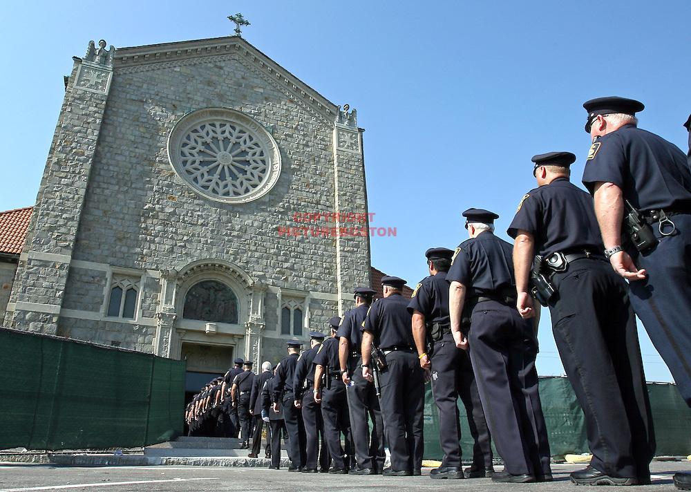 (10/05/07-Revere,MA) Wake for Daniel Talbot, the slain Revere Police Officer......At St Anthony's Church. Staff photo by Mark Garfinkel