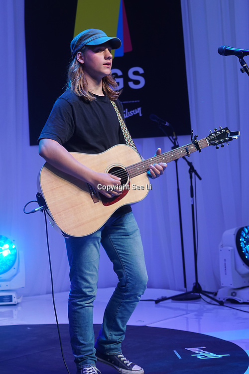 London, UK. 3rd September 2017. Winner Josh Gleaves preform at the Mayor Of London Gigs at Westfield London.