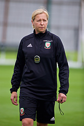 NEWPORT, WALES - Monday, June 4, 2018: Wales' manager Jayne Ludlow during a training session at Dragon Park ahead of the FIFA Women's World Cup 2019 Qualifying Round Group 1 match against Bosnia and Herzegovina. (Pic by David Rawcliffe/Propaganda)