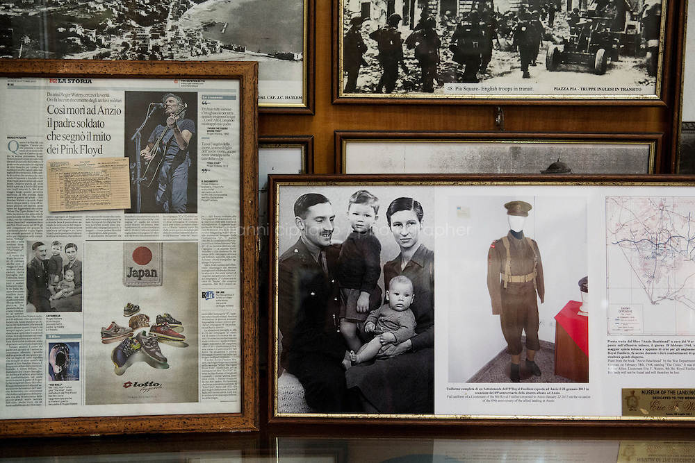 ANZIO, ITALY - 21 January 2014: A family photograph of British soldier Eric Fletcher Waters, father of Pink Floyd founder Roger Waters, is exposed at the Anzio Beachhead Museum in Anzio, Italy, on January 21st 2014.