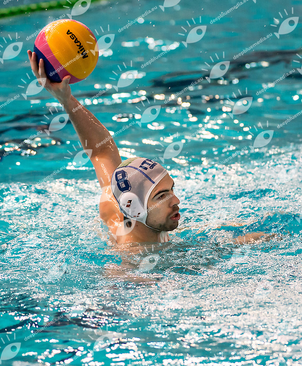 8 Alessandro NORA ITA<br /> FINA Men's Water Polo Olympic Games Qualifications Tournament 2016<br /> Italy ITA (White) Vs Germany GER (Black)<br /> Trieste, Italy - Swimming Pool Bruno Bianchi<br /> Day 5  07-04-2016<br /> Photo G.Scala/Insidefoto/Deepbluemedia