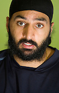 JAMES BOARDMAN / 07967642437.Cricketer Monty Panesar talks during a press conference at the County Ground in Hove February 23, 2010. Monty will be playing for Sussex this season.