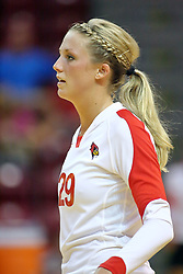 31 Aug 2010: Mallory Leggett. The Illinois State Redbirds trumped the Rambles of Loyola-Chicago 3 sets to none at Redbird Arena on the campus of Illinois State University in Normal Illinois.