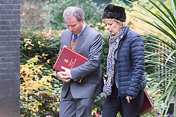 Downing Street, London, December 1st 2015. Oliver Letwin and small Business Minister Anna Soubry arrive at Downing Street for the weekly cabinet meeting. ///FOR LICENCING CONTACT: paul@pauldaveycreative.co.uk TEL:+44 (0) 7966 016 296 or +44 (0) 20 8969 6875. ©2015 Paul R Davey. All rights reserved.