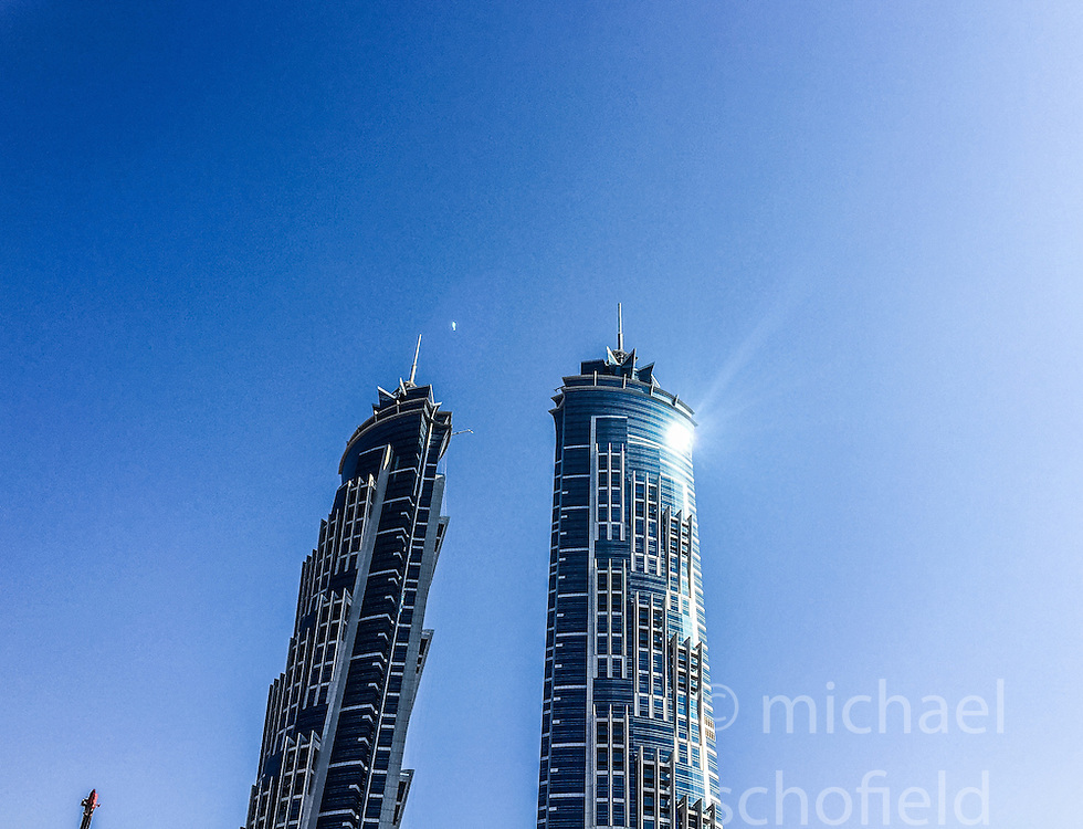 Pic of construction and skyscrapers in Dubai. Images from the MSC Musica cruise to the Persian Gulf, visiting Abu Dhabi, Khor al Fakkan, Khasab, Muscat, and Dubai, traveling from 13/12/2015 to 20/12/2015.