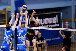 Maxson Guilherme Pereira of Calcit Volley during 3rd Leg volleyball match between OK Calcit Volley and Salonit Anhovo in Semifinal of 1. DOL Slovenian National Championship 2017/18, on April 15, 2018 in Sports hall Kamnik, Kamnik, Slovenia. Photo by Urban Urbanc / Sportida