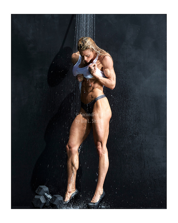 "Natalie Lyle ""Muscle Shower"". Printed and shipped to you directly from a professional photography printing facility. Top quality inks and paper. White border for framing without covering the image."