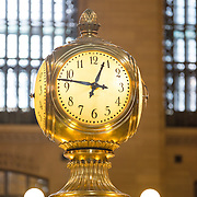 Detail of clock in main hall of Grand Central Terminal, New York