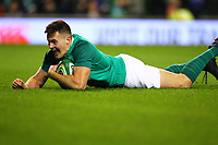 Rugby Union - 2017 Guinness Series (Autumn Internationals) - Ireland vs. Argentina<br /> <br /> Ireland's Jacob Stockdale scores a try, at the Aviva Stadium.<br /> <br /> COLORSPORT/KEN SUTTON