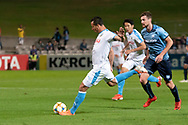 SYDNEY, AUSTRALIA - MAY 21: Kawasaki Frontale player Leandro Damiao (9) has a shot at goal at AFC Champions League Soccer between Sydney FC and Kawasaki Frontale on May 21, 2019 at Netstrata Jubilee Stadium, NSW. (Photo by Speed Media/Icon Sportswire)