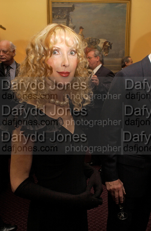 Basia Briggs, Reception to support the Hyde Park Appeal for Liberty Drives ( a charity which enables people to travel around Hyde Park in electric buggies) in the presence of Prince Michael of Kent. Officers Mess. Household Cavalry Mounted Regiment. Hyde Park Barracks. 30 November 2004. ONE TIME USE ONLY - DO NOT ARCHIVE  © Copyright Photograph by Dafydd Jones 66 Stockwell Park Rd. London SW9 0DA Tel 020 7733 0108 www.dafjones.com