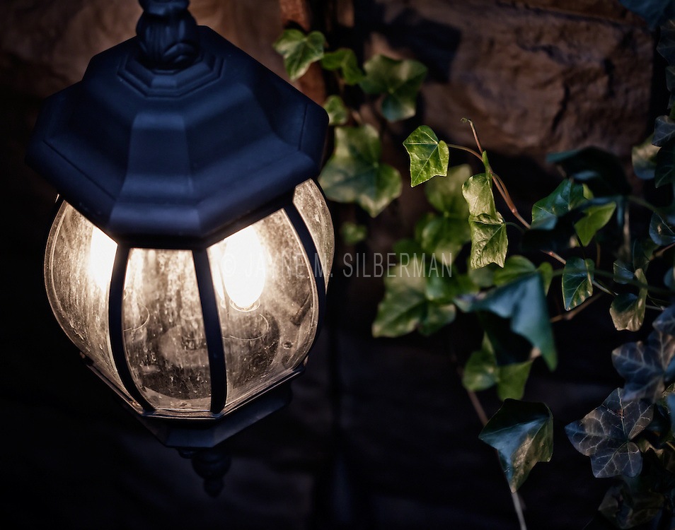 Brownstone outdoor night light..