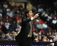 """Illinois State coach Tim Jankovich watches the action against Mississippi in a National Invitational Tournament game at the C.M. """"Tad"""" Smith Coliseum in Oxford, Miss. on Wednesday, March 14, 2012. (AP Photo/Oxford Eagle, Bruce Newman)"""