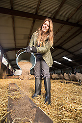 Anna with Kate Roswell at Hundleshope farm. Story on the farm in Peebleshire about the current state of women in farming.