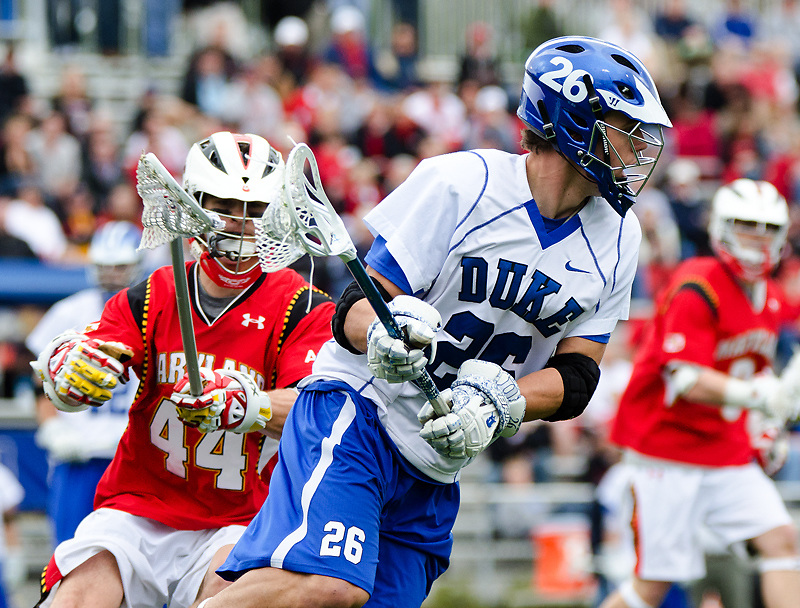 March 5 2011:Duke midfielder Robert Rotanz (26) looks for an opening against Maryland.