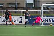 Dundee United trialist Felitciano Zschusschen scores during Dundee v Dundee United in the SPFL Development League at Links Park, Montrose. Photo: David Young<br /> <br />  - &copy; David Young - www.davidyoungphoto.co.uk - email: davidyoungphoto@gmail.com