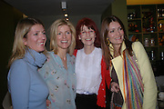 Alice Sykes, Lucy Sykes, mother: Valerie Goad and Plum Sykes. Launch of 'Lucy  Sykes Baby, New York' Selfridges. 14 April 2005. ONE TIME USE ONLY - DO NOT ARCHIVE  © Copyright Photograph by Dafydd Jones 66 Stockwell Park Rd. London SW9 0DA Tel 020 7733 0108 www.dafjones.com