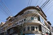 Phnom Penh, Cambodia. Power lines.