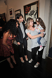 Left to right,  JO MANUEL - founder of The Special Yoga Centre, SAMANTHA CAMERON, EMMA SUTTON and her daughter INDIA at The Special Yoga Centre's annual art auction held at the 20th Century Theatre, 291 Westbourne Grove, London W11 on 16th May 2011.